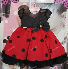 Vestido Infantil Minnie Luxo - tam 1 ao 3 Minnie Mouse Theme, Kids Wear, Costume Design, African Fashion, Baby Dress, Baby Car Seats, Girls Dresses, Ballet Skirt, How To Wear