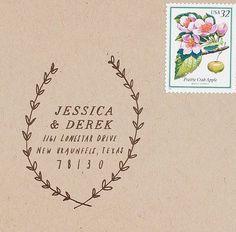 woodland stamp customized