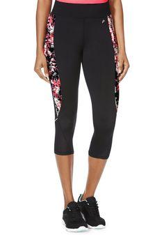 6d7ebee2c06467 Clothing at Tesco | F&F Active Digital Side Print Capris > leggings  >