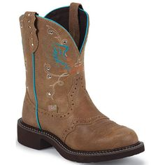 Women's Gypsy Western Justin Boots from Bootbay, Internet's Best Selection of Work, Outdoor, Western Boots and Shoes. Gypsy Boots, Cowgirl Boots, Western Boots, Top Shoes, Cute Shoes, Funny Valentines Day Pictures, Justin Boots, Country Girls, Country Living