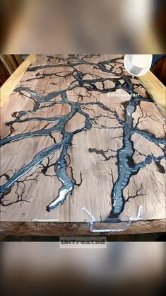 flooring Pouring silver epoxy for walnut table. Fractal rivers b. epoxy flooring Pouring silver epoxy for walnut table. Fractal rivers b. - flooring - epoxy flooring Pouring silver epoxy for walnut table. Fractal rivers b. Diy Resin River Table, Epoxy Wood Table, Epoxy Resin Table, Wooden Tables, Epoxy Table Top, Wood Slab Table, Diy Epoxy, Diy Resin Crafts, Wood Crafts