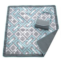 JJ Cole All-Purpose Outdoor Baby Blanket, Chevron Pattern Swaddle Blanket, Picnic Blanket, Outdoor Blanket, Picnic Mat, Jj Cole, Aqua, Target, Blue Blanket, Baby Girl Blankets