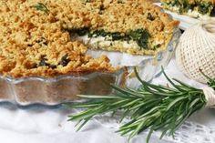 Sbriciolata salata ai formaggi cremosi e spinaci saporiti (ricetta senza burro)