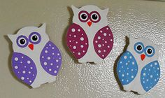 Polka Dot Owl Magnets are an easy way to add some happiness to your kitchen!
