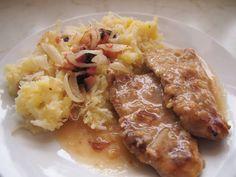 Hlavní jídla :: RECEPTY ZE ŠUMAVSKÉ VESNICE No Salt Recipes, Sausage, Food And Drink, Meat, Cooking, Czech Recipes, Red Peppers, Essen, Kitchen