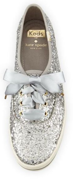 Glitter Keds for Kate Spade. For more inbetweenie and plus size style ideas go to www.dressingup.co.nz
