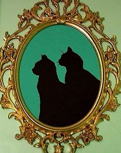 Really neat cat sillouette. I am so doing this for my two cats!