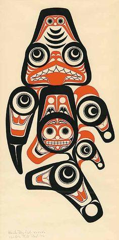 Bill Reid print - Haida Dogfish Xaxada