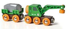 BRIO - Camión grúa con remolque y carga (33698): Amazon.es: Juguetes y juegos