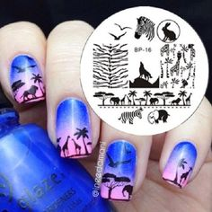 Nagel-Schablone-BORN-PRETTY-Nail-Art-Stamp-Stamping-Template-Plates-16