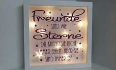 """Picture Frame – Illuminated Picture Frame """"Friends"""" – a unique product by Tull … - New Diy Gifts Trend Diy Gifts To Sell, Diy Gifts For Friends, Easy Diy Gifts, Simple Gifts, Gifts For Coworkers, Special Gift For Girlfriend, Personalised Gifts For Girlfriend, Birthday Gifts For Girlfriend, Friends Picture Frame"""