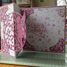 Tonic Girl Birthday Cards, Birthday Woman, Fancy Fold Cards, Folded Cards, Tonic Cards, Card Designs, Creative Cards, Kids Cards, Fairies