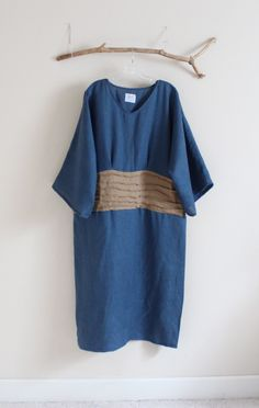 plus size kimono dress with pleated waist- handmade to measure by annyschooecoclothing