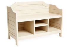 Beach House Storage Bench, Beige