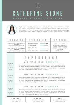 Resume Template / CV Template Cover Letter for por OddBitsStudio