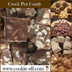 Crock Pot Candy: ingredients, directions, and special baking tips from The Elf to make Crock Pot Candy, an easy cookie recipe that's more like a confection. Elf Cookie Recipe, Easy Cookie Recipes, Easy No Bake Cookies, No Bake Treats, Crockpot Recipes, Cooker Recipes, Rice Krispy Treats Recipe, Crock Pot Desserts, Desert Recipes
