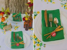 camp inspired party