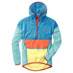 Made with weather-resistant, repurposed materials, the Teca is an anorak-style windbreaker that packs down into its internal pocket. Each colorway is a limited edition, when they're gone, they're gone! Half Zip Windbreaker, Windbreaker Jacket, Vest Jacket, Rain Jacket, Raincoats For Women, Jackets For Women, Womens Parka, Friend Outfits, Men Casual