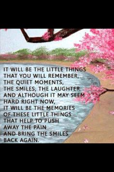It will be the little things