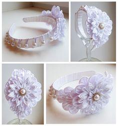 Одноклассники Diy Lace Ribbon Flowers, Cloth Flowers, Kanzashi Flowers, Diy Ribbon, Ribbon Hair, Fabric Ribbon, Ribbon Crafts, Fabric Flowers, Fabric Crafts
