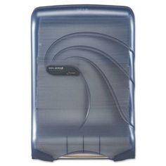 San Jamar Oceans Ultrafold Multifold/C-Fold Towel Dispenser, Blue, Multicolor