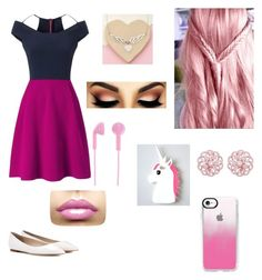 """""""Adrianna's formal"""" by jjwolfie9596 on Polyvore featuring Roland Mouret, Jimmy Choo, Casetify, Happy Plugs, Emilio! and Tales From The Earth"""
