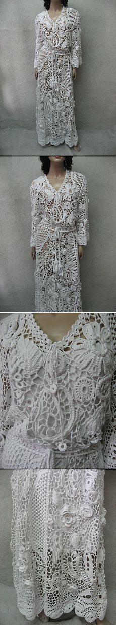 The glorious Crocheted white irish lace dress by TalitaHandMade
