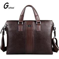 Geafasai P.kuone Brand Key <font><b>Comprar</b></font> Cupones Gratis Holders For Coupons Male Magazine Laptop Brown Leather Messenger Shoulder Bag