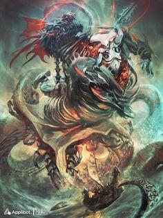 Artist: Reynan Sanchez aka artizako - Title: Beastly Prince, Diaprepes reg - Card: Beastly Prince Diaprepes