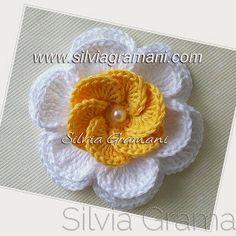 Silvia Gramani Crochê: Passo a Passo - Flor Lótus