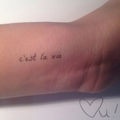 C'est La Vie and Carpe Diem Temporary Tattoos by LoveUnstoppable