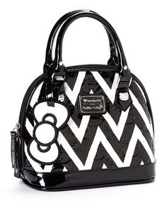 Look at this #zulilyfind! Black & White Chevron Hello Kitty Mini Bag by Loungefly #zulilyfinds