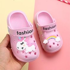 Unicorn Slippers For Boy Girl Rainbow Shoes Price: 16.99$ Discount ending in next 24 hours Rainbow Shoes, Outdoor Baby, Kids Slippers, Kids Sandals, Shoes Sandals, Slipper Sandals, Baskets, Beach Shoes, Crocs Shoes