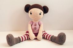 PATTERN : Doll Crochet pattern Amigurumi Doll by Anatillea