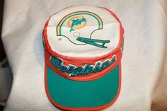 Miami Dolphins NFL Painters Cap Hat  Vintage Rare New Old Stock From the 80s