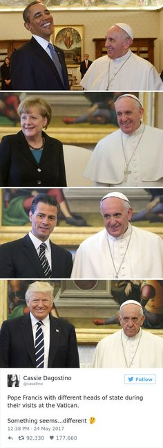 10 of the Funniest Reactions to Super Sad Pope Meeting The Trumps