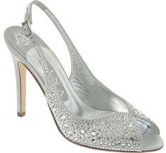 unique silver bridesmaid shoes