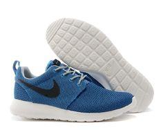 half off 485e7 4b899 Nike Roshe One Laufschuhe Für Männer Schwarz Blau Weiß für 54.77 Kaufen  Cheap Nike Running Shoes