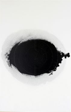 Markus Keibel | Geordano Bruno. The Cause, the Priciple and the One | carbon black, acrylic and pigment on paper,