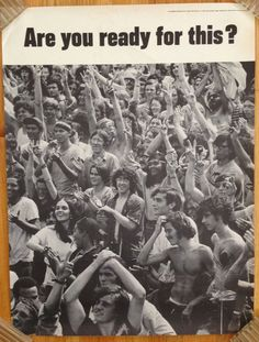 ARE YOU READY FOR THIS? Hippy poster - vintage 70's : Lot 618