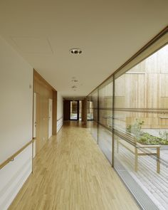 Image 16 of 23 from gallery of Residential Care Home Andritz / Dietger Wissounig Architekten. Photograph by Paul Ott Health Care Hospital, Home Health Care, Commercial Interior Design, Commercial Interiors, Senior Care Centers, Best Nursing Schools, Asile, Aged Care, Hospital Design