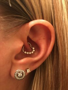 My new 16 Gauge Clear CZ Heart Left Closing Daith Cartilage Tragus Earring from #BodyCandy