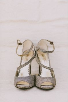 silver wedding shoes from DSW #bride #weddingheels #weddingchicks http://www.weddingchicks.com/2014/04/01/diy-palm-springs-wedding/