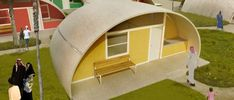 Binishell Eco Dome Home « Inhabitat – Green Design, Innovation, Architecture, Green Building Concrete Cost, Low Cost Housing, Tiny House Cabin, Tiny Houses, Eco Architecture, Concrete Architecture, Dome House, Geodesic Dome, Prefab Homes