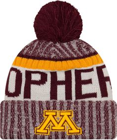 c8fd73adf1a New Era Men s Minnesota Golden Gophers Maroon Sport Knit Beanie