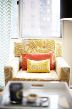 $359.99  From Target. Clybourn Loft Armchair - Maize >> This might be the winner!