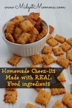 Homemade Cheez-It crackers made with REAL food ingredients!