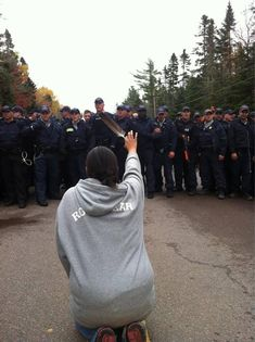 Elsipogtog First Nation, New Brunswick First Nations protesters blocking a fracking company's access to native land in northeast Canada were met by excessive force on the part of the RCMP...but they eventually won, and the fracking company was turned away permanently.