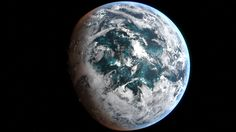 Resolution planet generated with procedural texturing. Sci Fi Fantasy, Fantasy World, Planets And Moons, Globe Art, Alien Worlds, Science Fiction Art, Le Far West, Space Exploration, Cthulhu