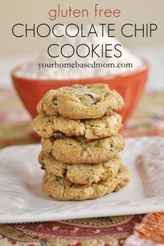 gluten free chocolate chip cookie  - they will never know it's gluten free  #glutenfree, #cookies, #recipes